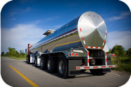 Tanker trucks are quickly, easily and economically cleaned with Butterworth tank cleaning machines.