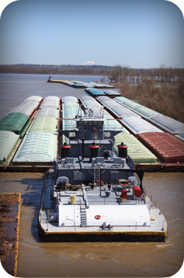 Clean barges that transport chemicals, flammable or combustible liquids, or dry bulk cargo quickly and economically with Butterworth tank cleaning machines.